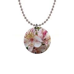 Flower Alstromeria Button Necklace