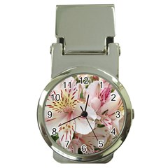 Flower Alstromeria Money Clip With Watch