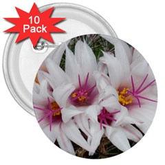 Bloom Cactus  3  Button (10 pack)