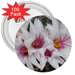 Bloom Cactus  3  Button (100 pack)
