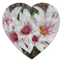 Bloom Cactus  Jigsaw Puzzle (heart)