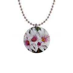 Bloom Cactus  Button Necklace