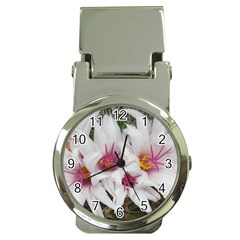 Bloom Cactus  Money Clip with Watch