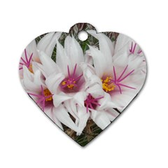Bloom Cactus  Dog Tag Heart (two Sided)