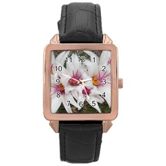 Bloom Cactus  Rose Gold Leather Watch