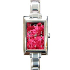 Red Autumn Rectangular Italian Charm Watch