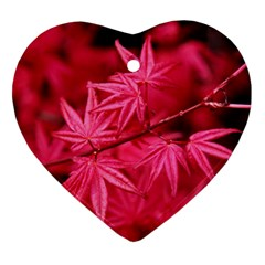 Red Autumn Heart Ornament