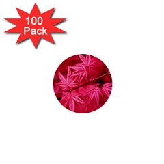 Red Autumn 1  Mini Button (100 pack)