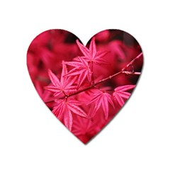 Red Autumn Magnet (Heart)