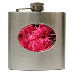 Red Autumn Hip Flask