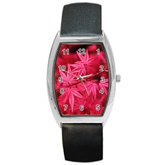 Red Autumn Tonneau Leather Watch