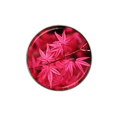Red Autumn Golf Ball Marker 4 Pack (for Hat Clip)