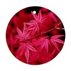 Red Autumn Round Ornament (Two Sides)