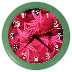 Red Autumn Wall Clock (color)
