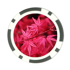 Red Autumn Poker Chip