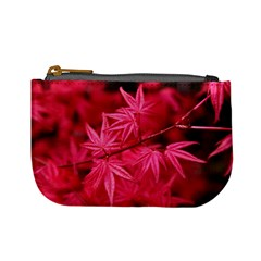 Red Autumn Coin Change Purse