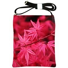Red Autumn Shoulder Sling Bag