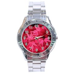 Red Autumn Stainless Steel Watch (men s)