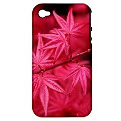 Red Autumn Apple Iphone 4/4s Hardshell Case (pc+silicone)