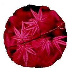 Red Autumn 18  Premium Round Cushion