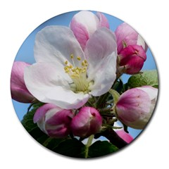 Apple Blossom  8  Mouse Pad (Round)