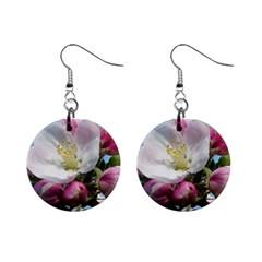 Apple Blossom  Mini Button Earrings