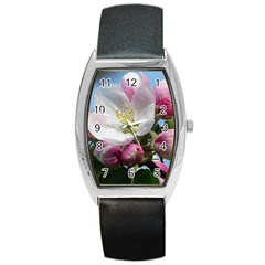 Apple Blossom  Tonneau Leather Watch