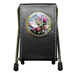 Apple Blossom  Stationery Holder Clock