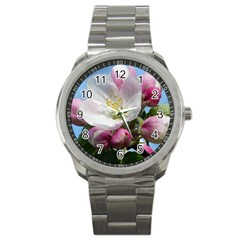 Apple Blossom  Sport Metal Watch