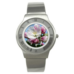 Apple Blossom  Stainless Steel Watch (Unisex)