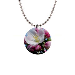 Apple Blossom  Button Necklace