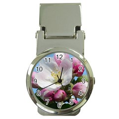 Apple Blossom  Money Clip with Watch