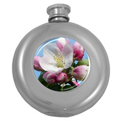 Apple Blossom  Hip Flask (Round)