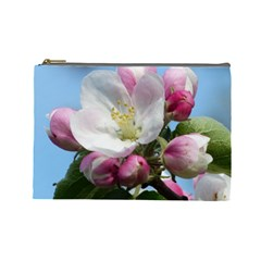 Apple Blossom  Cosmetic Bag (large)