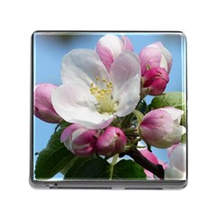 Apple Blossom  Memory Card Reader with Storage (Square)