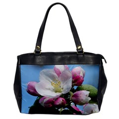 Apple Blossom  Oversize Office Handbag (One Side)