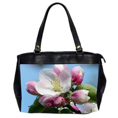 Apple Blossom  Oversize Office Handbag (two Sides)
