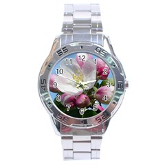 Apple Blossom  Stainless Steel Watch (men s)