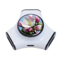Apple Blossom  3 Port USB Hub