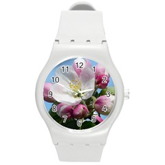 Apple Blossom  Plastic Sport Watch (Medium)