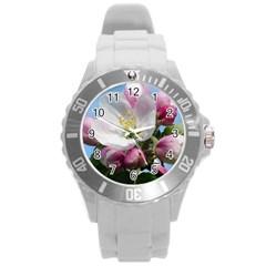 Apple Blossom  Plastic Sport Watch (Large)