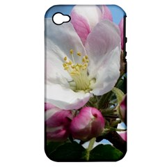 Apple Blossom  Apple Iphone 4/4s Hardshell Case (pc+silicone)