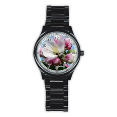 Apple Blossom  Sport Metal Watch (black)