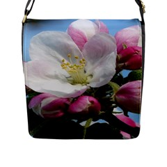 Apple Blossom  Flap Closure Messenger Bag (Large)