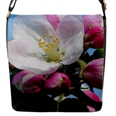 Apple Blossom  Flap closure messenger bag (Small)
