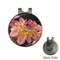 Dahlia Garden  Hat Clip with Golf Ball Marker