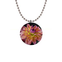 Dahlia Garden  Button Necklace