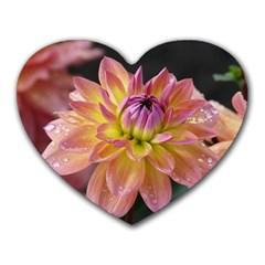 Dahlia Garden  Mouse Pad (Heart)