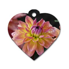 Dahlia Garden  Dog Tag Heart (Two Sided)