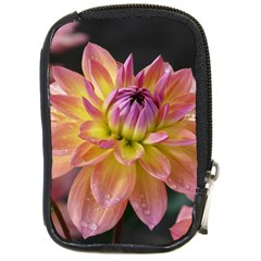 Dahlia Garden  Compact Camera Leather Case
